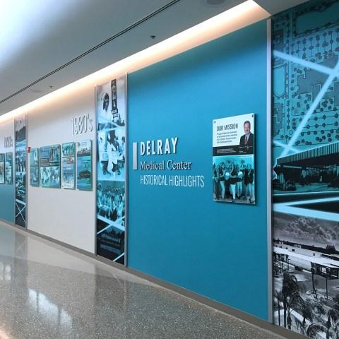 Delray Medical Center – History Wall