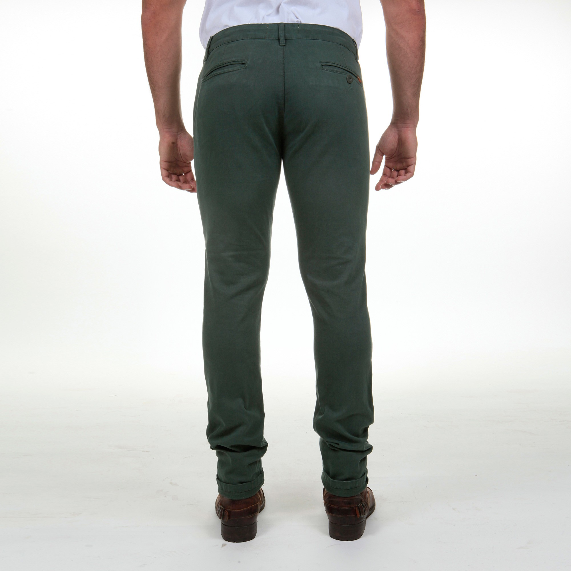 Pantalon Gabardine Stretch Coupe Chino Kaki Fibreflex
