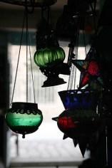 Lampes colorées, artisanat, El Jem - Tunisie 2012