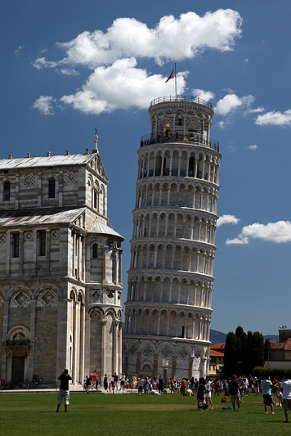 La tour de Pise, piazza del Duomo, Italie - août 2013