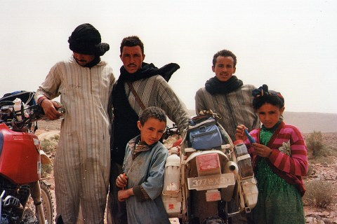 Raid de l'Amitié 1996 - Maroc, rencontres.