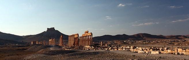 Le site archéologique de Palmyre, la grande colonnade, Syrie, 2010
