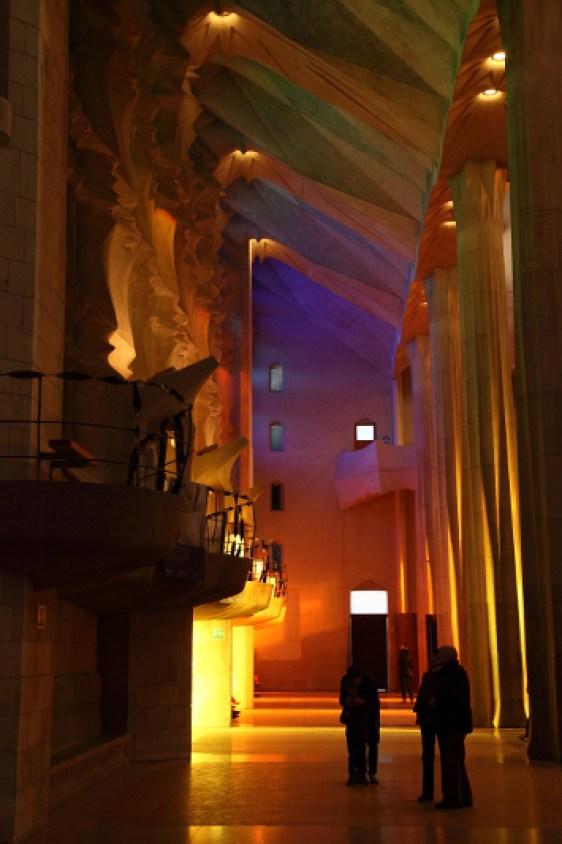 Sagrada Familia, la nef latérale, Barcelone - 2015