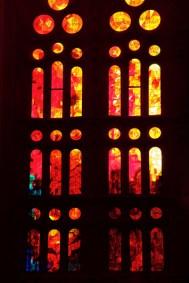 Sagrada Familia, vitraux, Barcelone - 2015