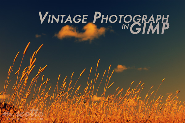 Vintage Photograph in GIMP