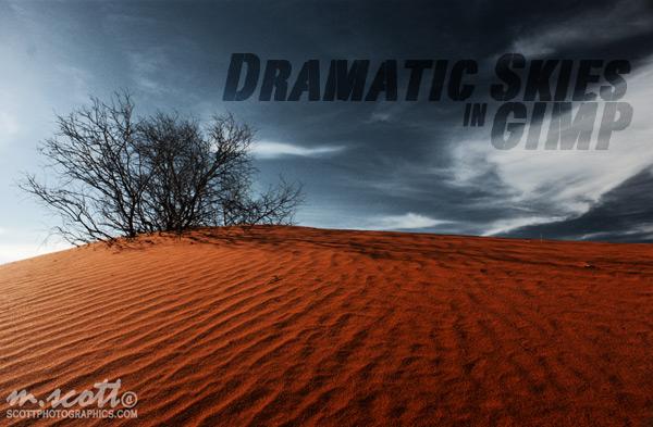 Dramatic Skies in GIMP