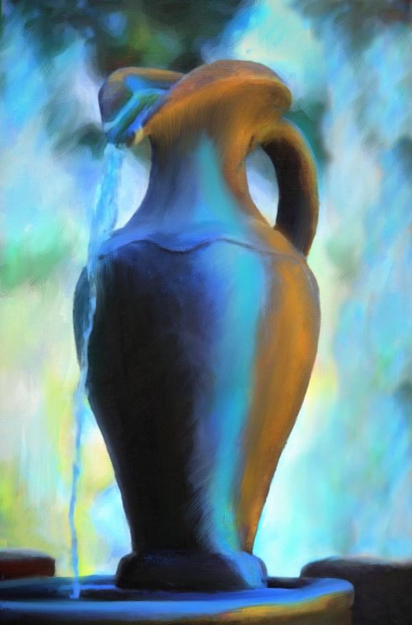 Photo Art- Fountain Urn
