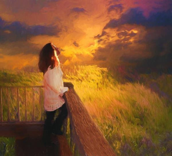 Photo Art – Amberleigh and Field of Gold