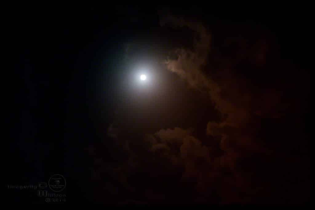 moon, clouds, colors