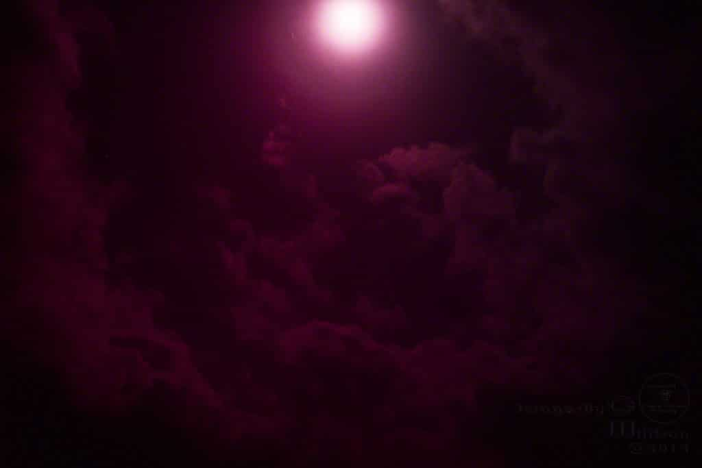 red, pink, purple, moon photo, clouds