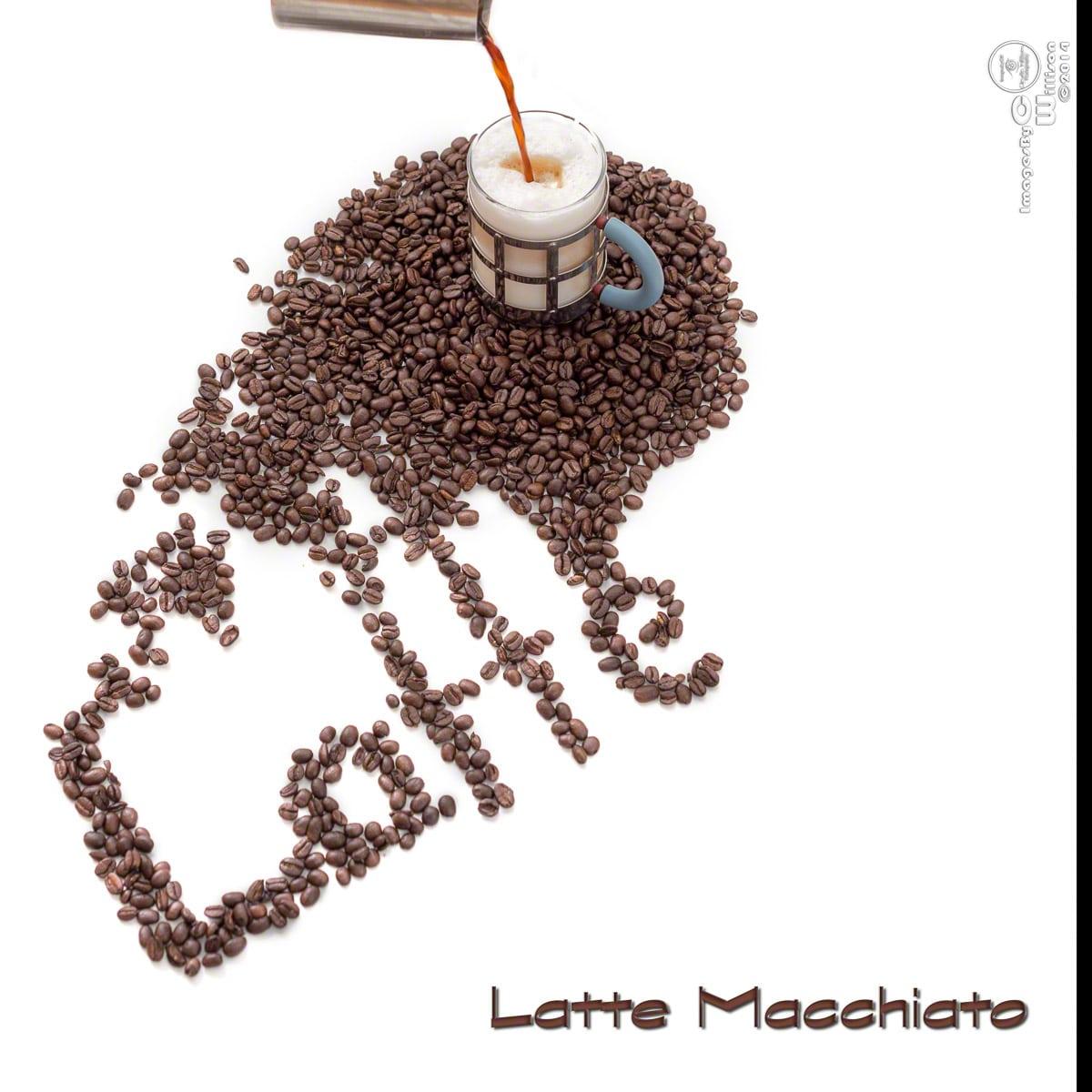 coffee, beans, latte