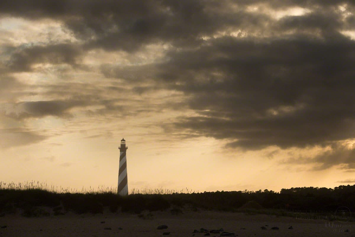 Lighthouse sundown
