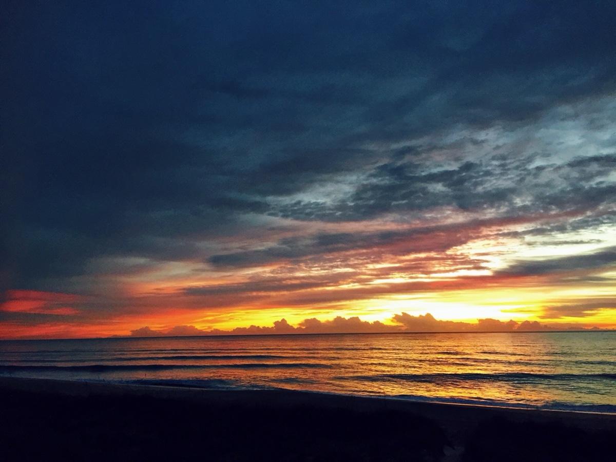 sunrise, obx, ocean