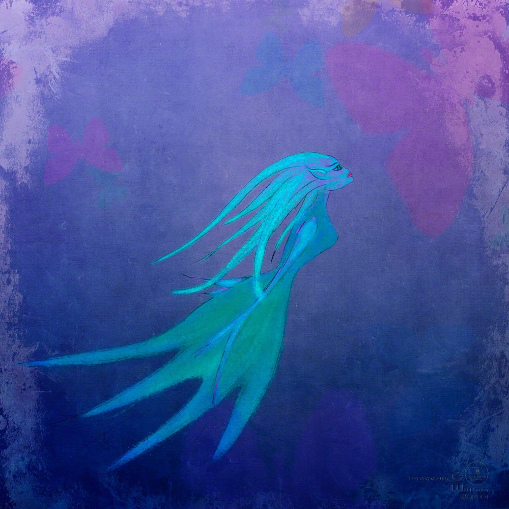 mermaid, drawing, photoshop