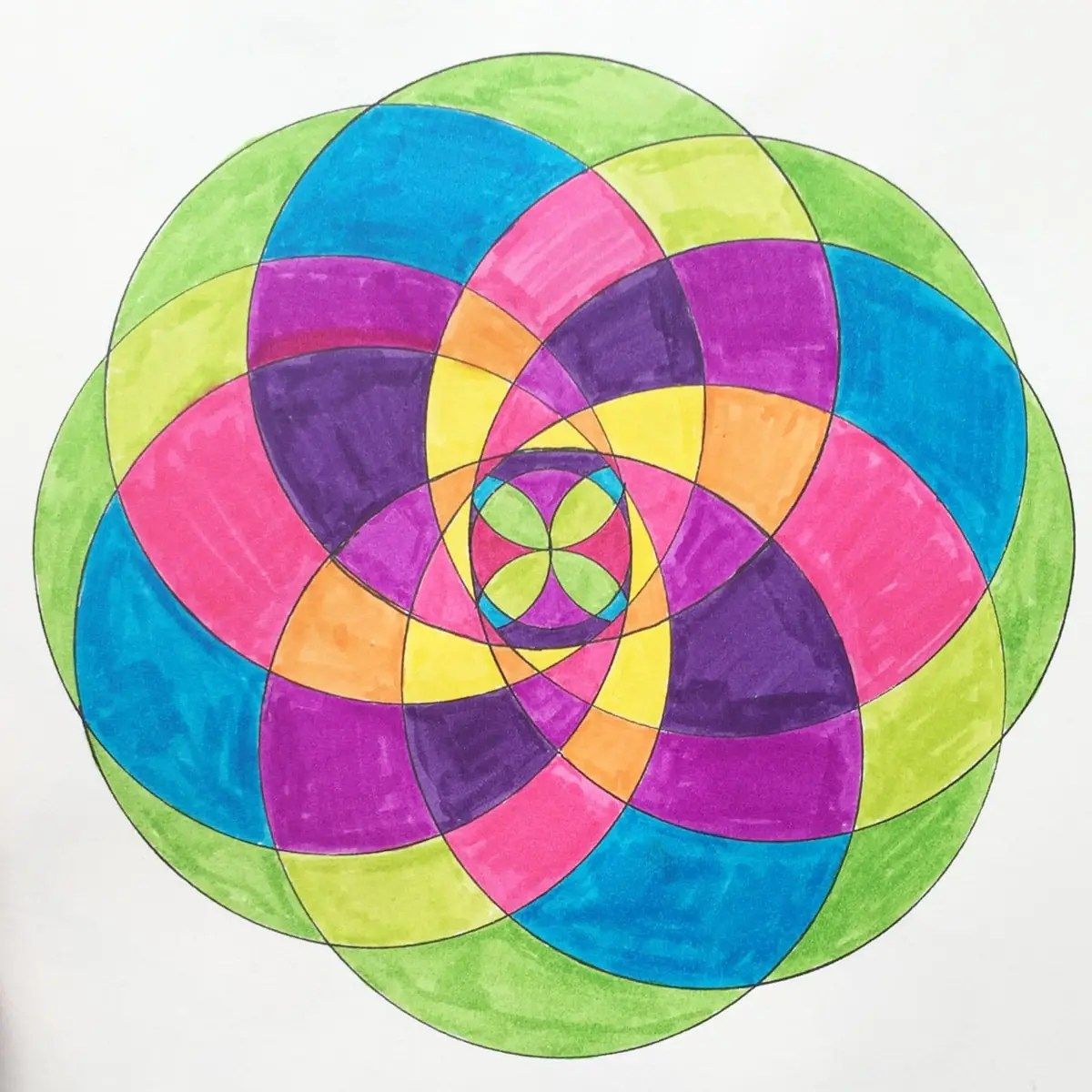 colorful simple mandala