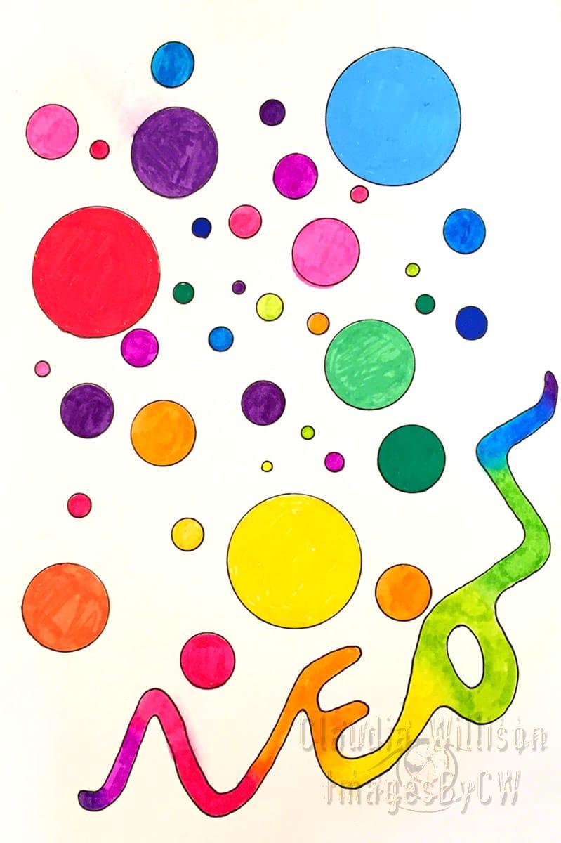 neon, coloring, fun