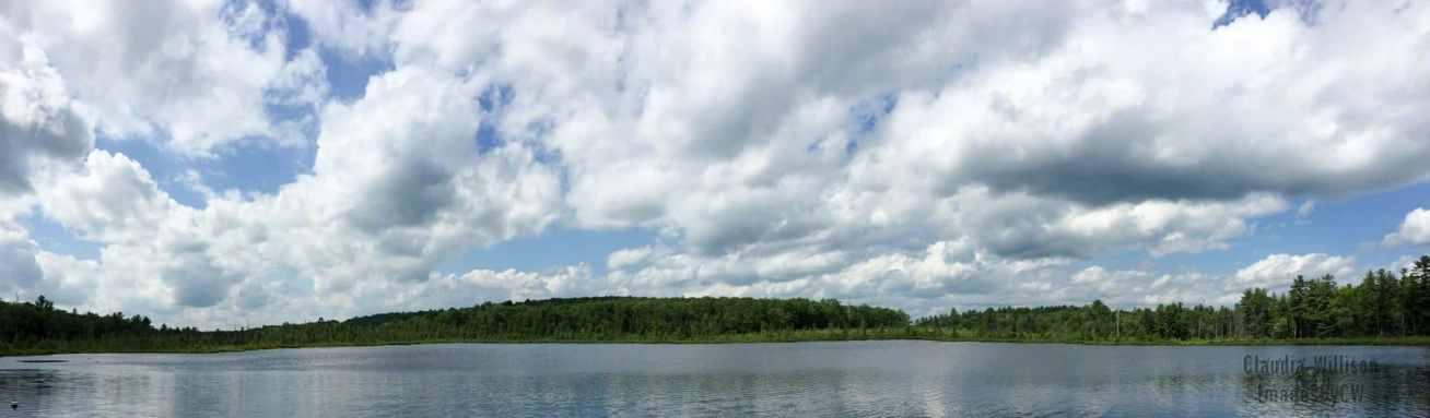Woodloch Lodge Lake, clouds, reflection