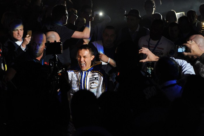 Josh Warrington be feats Dennis Tubieron over twelve rounds - Boxing at the First Direct Arena, Leeds, promoted by Matchroom Sports - 11/04/15 - MANDATORY CREDIT: Steven White/TGSPHOTO - Self billing applies where appropriate - contact@tgsphoto.co.uk - NO UNPAID USE