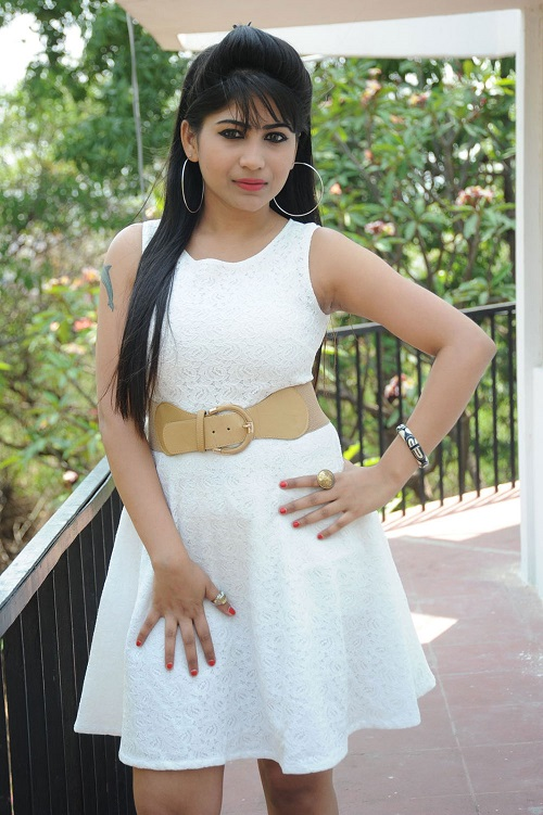 Madhulagna Das In White Frock Skirt