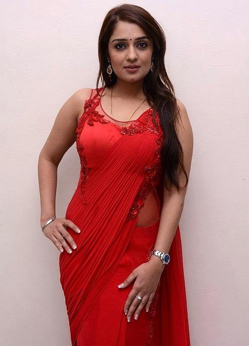 Nikitha Thukral In Red Tight Dress