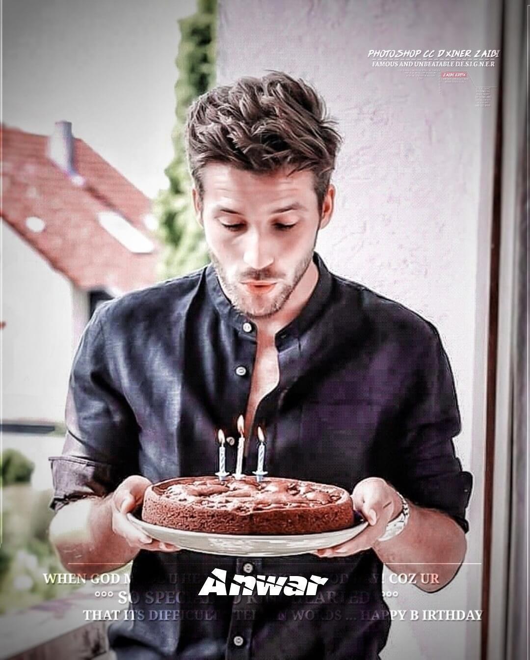 Happy Birthday Boy Cake With Name Anwar