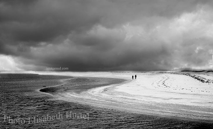 Beach in black and white, fine art photography