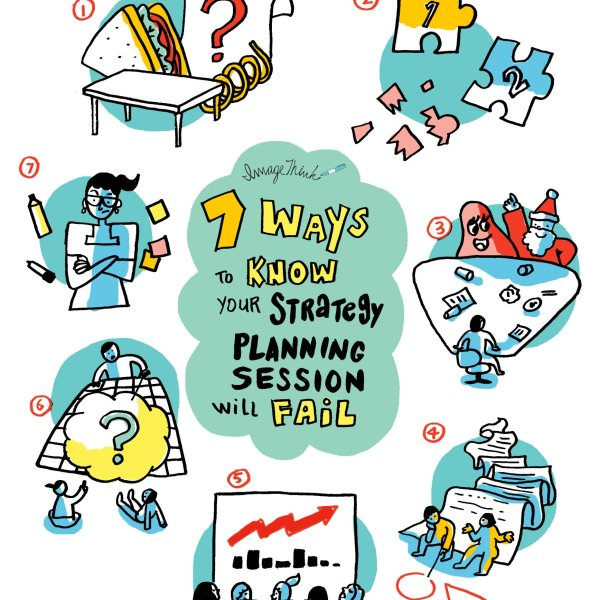 ImageThink supports strategy sessions through graphic recording and graphic facilitation, to spark discussion and help create actionable plans. Here are 7 ways to improve your brainstorming practices, brought to you by our team.