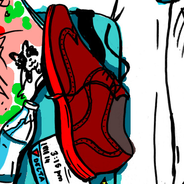 imagethink graphic recorder Greta Hayes suggests bringing shoes that can work for comfort and style at your conference.