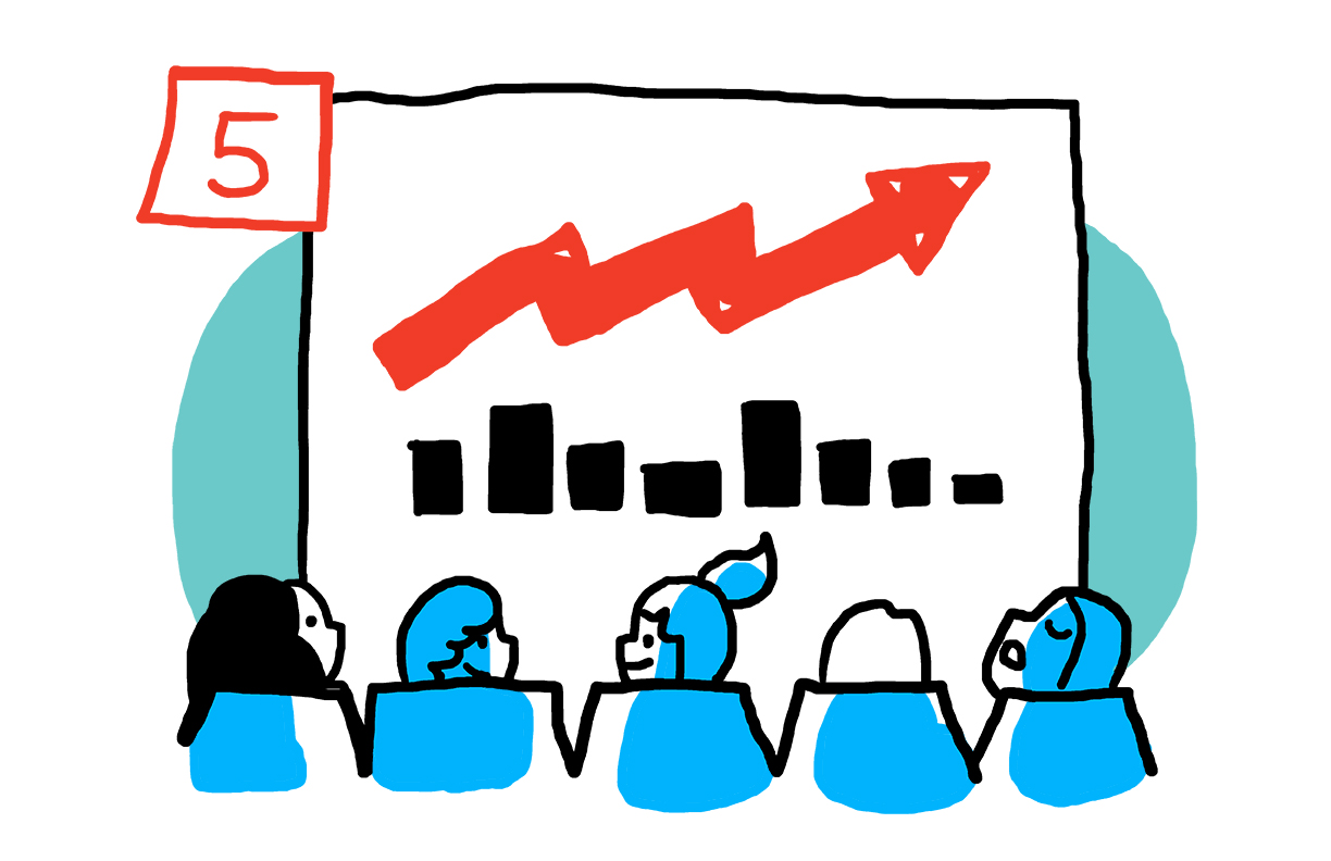 7 ways to know your brainstorm meeting will fail cartoon for blog post by graphic recording firm ImageThink. Your presentations are filled with nothing but powerpoints that put attendees to sleep.