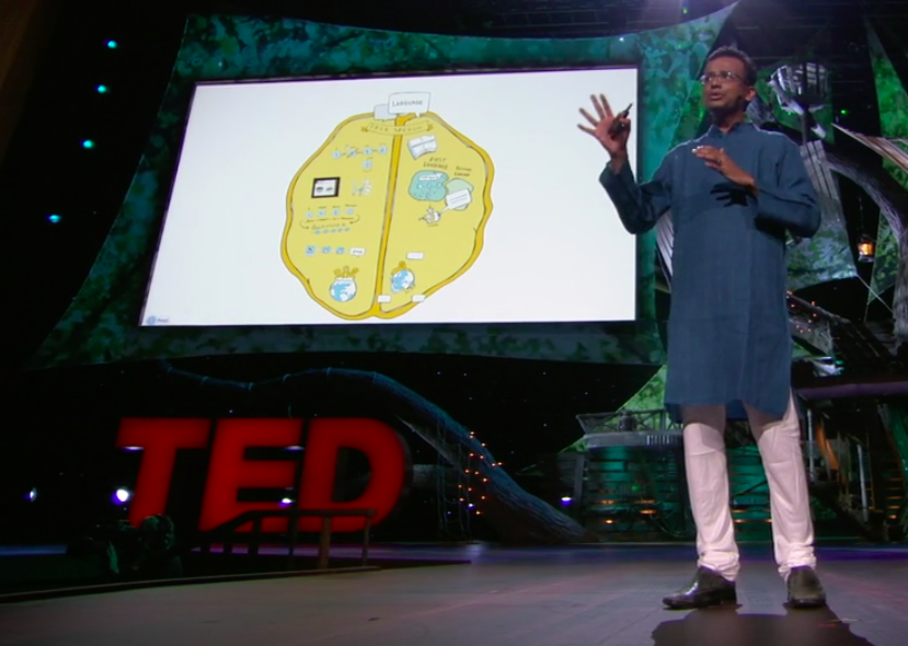 imagethink created infographics to serve as a slide deck for a TED talk by Ajit Narayanan