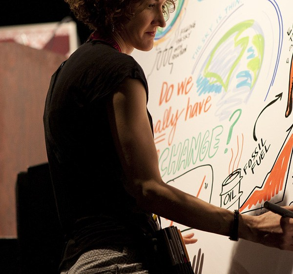 ImageThink co founder Nora Herting scribes for al gore at sxsw 2015