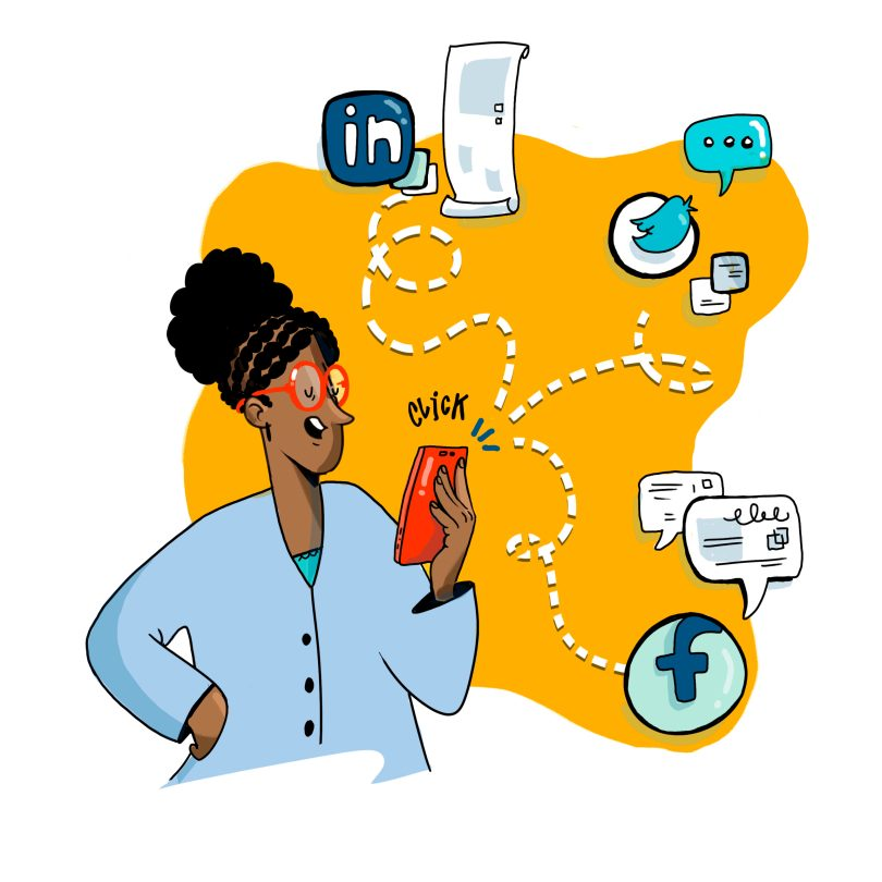 Strategic illustration and visual recording offers an opportunity for individuals and attendees to share your content
