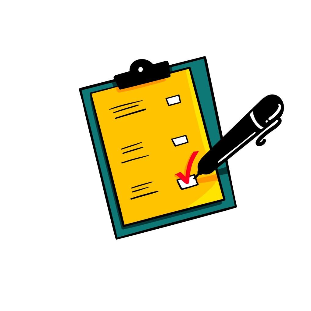 Checklist of materials to distibute