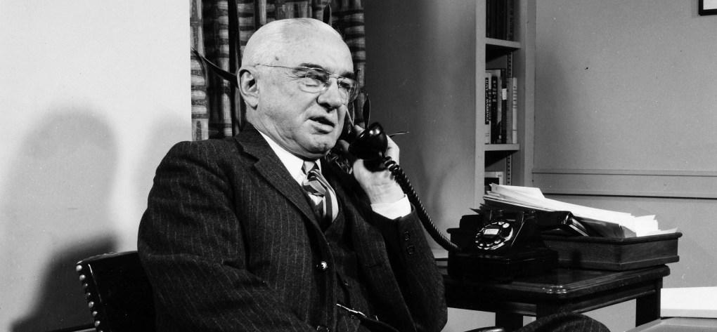 """Alex Osborn (the """"O"""" of BBDO) on the phone"""