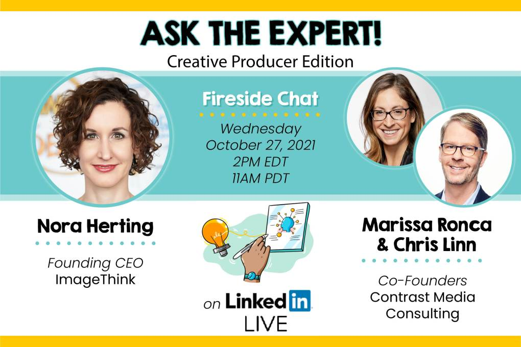 ImageThink founder Nora Herting with Marissa Ronca and Chris Linn, on ASK THE EXPERT!