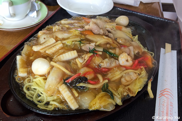 The seafood fried noodle