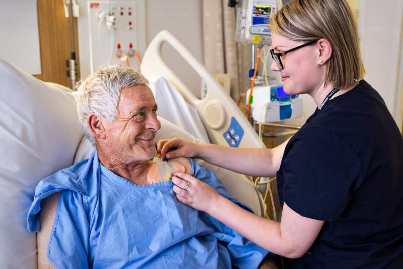 Nurse with patient - Nursing and hospital commercial photography by Image Workshop, Melbourne commercial photographers