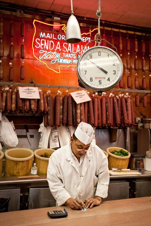 The salami stand