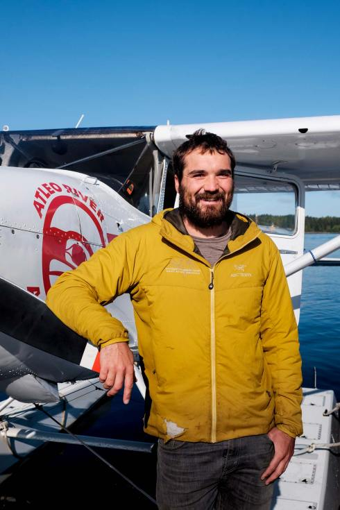 Portrait of the pilot of a sea plane in Tofino in British Columbia, Canada. Image by travel and commercial photographer Sharon Blance from Melbourne, Australia.