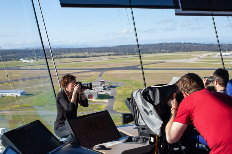 Image Workshop photography shooting on location at Melbourne Airport Air Traffic Control Tower