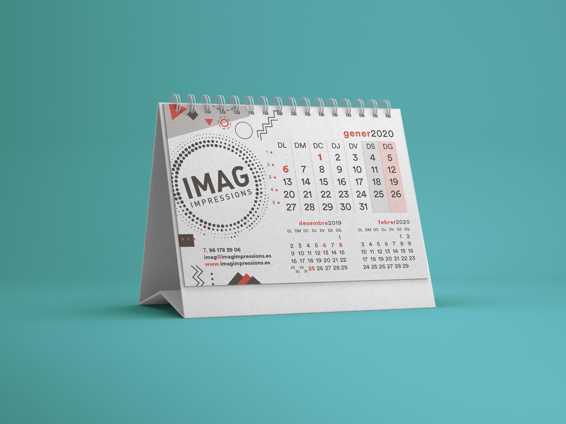 Calendario de mesa 2020 IMAG Impressions