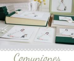comuniones imaginaran. Ilustraciones y detalles hechos a mano.