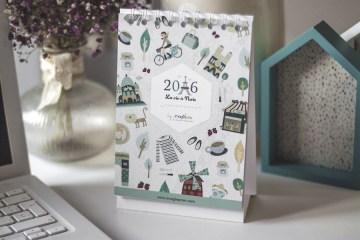 calendario-2016-ilustración-paris-donostia-gipuzkoa