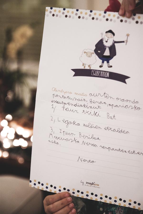 carta olentzero navidad ilustración donostia gipuzkoa