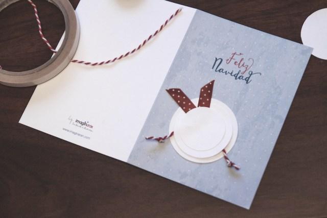 diy manualidades navidad felicitación postal ilustración nieve donostia gipuzkoa