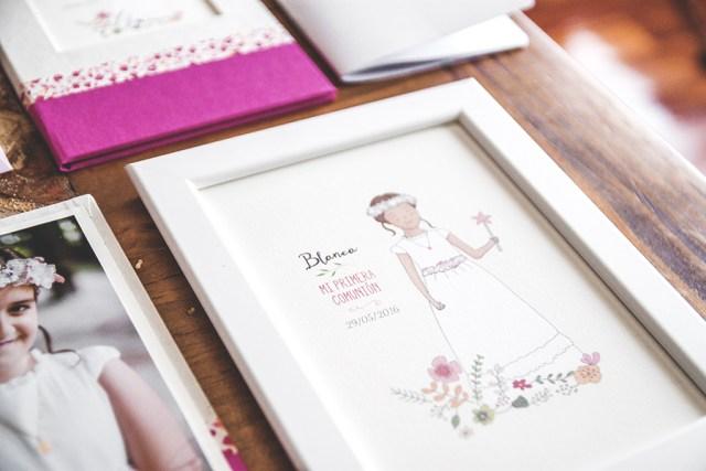 ilustracion personalizada comunion detalles recordatorios
