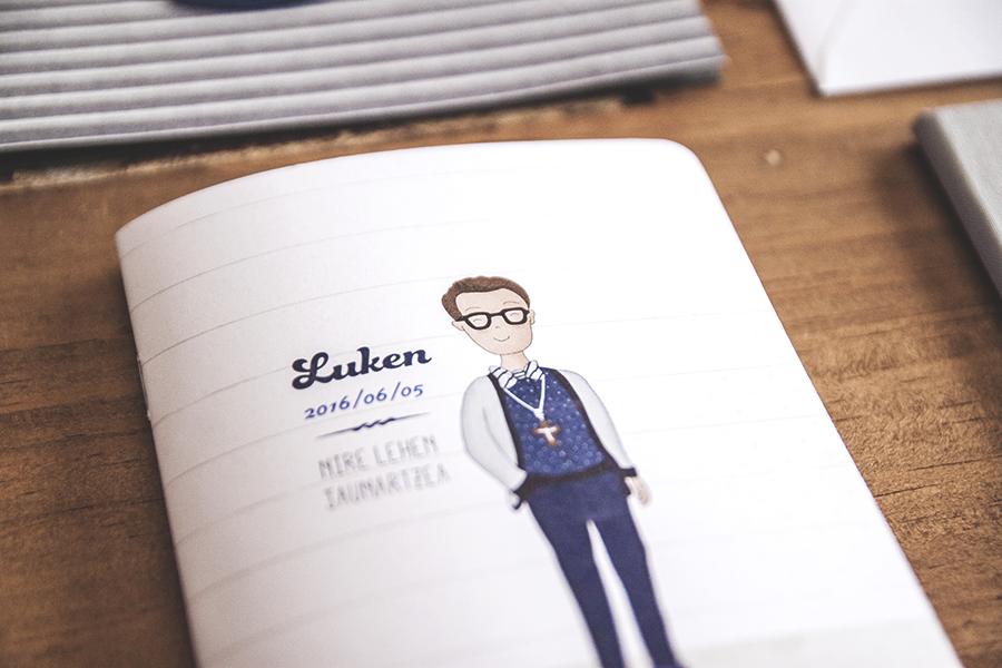 libreta comunion ilustracion personalizada recordatorios