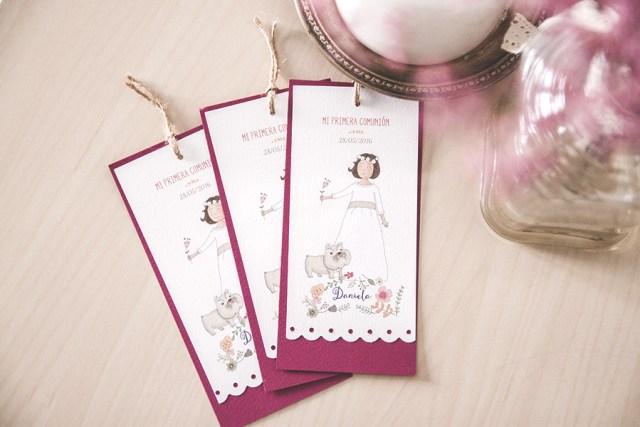puntos de libros marcadores de página comunión personalizados ilustraciones