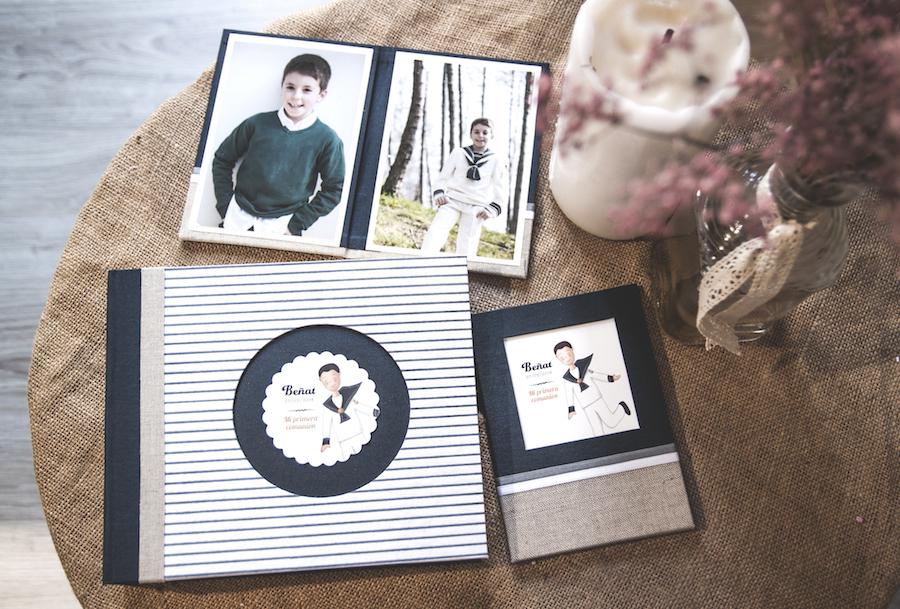 album comunión portafotos niño