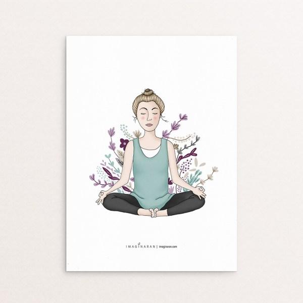sukasana yoga ilustración